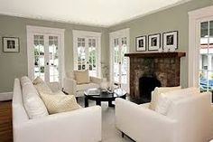 Image result for benjamin moore living room with gray horse paint