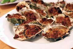 You might not be able to take a quick jaunt down to New Orleans, but you can bring a romantic taste of this city's cuisine to your table with rich baked oysters. Source: POPSUGAR Photography / Nancy Einhart