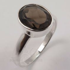 Pearl Jewelry, Sterling Silver Jewelry, Smoky Quartz Ring, Silver Jewellery Indian, Engraved Jewelry, Body Jewellery, Jewels, Gemstones, Elegant