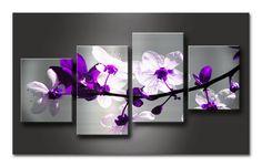 Cuadro Flores lilas.