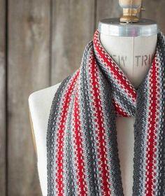 Striped Linen Stitch Scarf