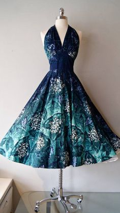 1950's halter sun dress