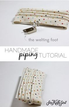 Handmade Piping with The Welting Foot | See Kate Sew