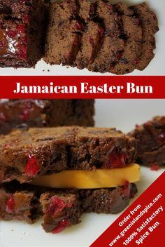 Jamaican Desserts, Jamaican Cuisine, Jamaican Recipes, Gourmet Recipes, Cake Recipes, Dessert Recipes, Cooking Recipes, Bread Recipes, Jamaican Easter Bun Recipe