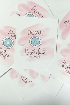 Donut Forget About Me - Card & Printable Only $7!