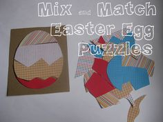 Tons of Fun: Mix & Match Easter Egg Puzzles (other great toddler ideas too)