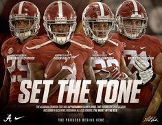 Alabama Crimson Tide SET THE TONE #Alabama #RollTide #BuiltByBama #Bama #BamaNation #CrimsonTide #RTR #Tide #RammerJammer