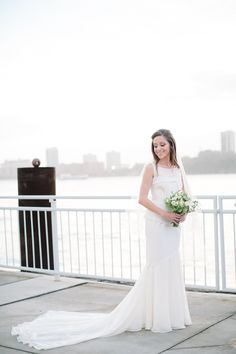 Photography by brklynview.com/ Floral Design by spinanyc.com  Read more - http://www.stylemepretty.com/2013/08/28/lighthouse-at-chelsea-piers-wedding-from-brklyn-view-photography/