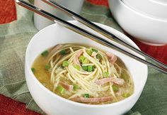 This soup is often served on birthdays to symbolize wishes for a long life.