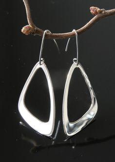Unique silver earrings.