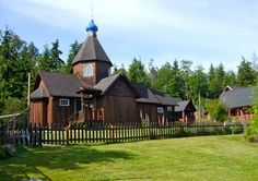 Vashon Island, Washington.  All-Merciful Saviour Orthodox Christian Monastery.