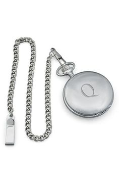 Cathy's Concepts Silver Plate Personalized Pocket Watch - Q