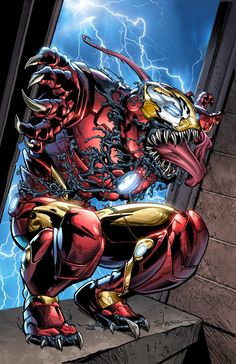 Browse the Marvel Comics issue Invincible Iron Man (Venom Variant). Learn where to read it, and check out the comic's cover art, variants, writers, & more! Venom Comics, Marvel Venom, Marvel Villains, Marvel Comics Art, Marvel Heroes, Comic Movies, Comic Book Characters, Marvel Characters, Comic Books Art