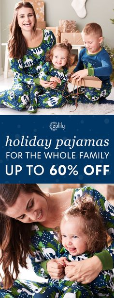 Sign up to shop to holiday pajamas for the whole family up to 60% off. Marshmallow-laden hot cocoa, a glittering tree and coordinating pj's? It's got to be Christmas morning!