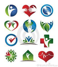 Health care logos by Andilevkin, via Dreamstime