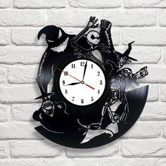 The Nightmare Before Christmas- 3 vinyl record clock in Home, Furniture & DIY, Clocks, Wall Clocks | eBay
