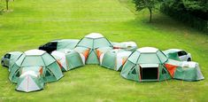 An outdoor tent compound.  Why are the Japanese so brilliant?