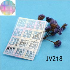 $1.59 12 Tips/Sheet Nail Vinyls Rose Flowers Nail Art Stencils Holo Nail Stickers JV218 - BornPrettyStore.com