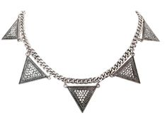 """""""Zea"""" spiked pave statement necklace - White Crown SocietyWhite Crown Society"""