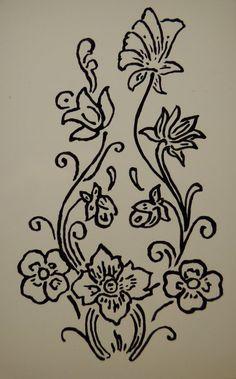 Peinture florale sur verre débutant                                                                                                                                                                                 Plus