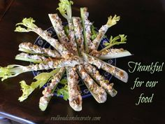 Stuffed Celery | Thanksgiving Tradition (fresh celery stuffed with cream cheese, green olives, and chopped walnuts)...YUM