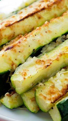 Garlic Lemon and Parmesan Oven Roasted Zucchini