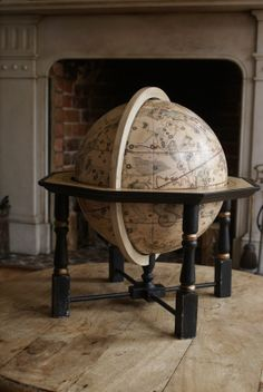 Gallery of Lander and May's handmade globes - traditional globes, contemporary globes, antique reproduction globes and aged globes
