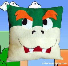 I kinda love this Bowser pillow. It's the eyebrows that win me over!