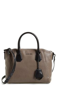 MICHAEL Michael Kors 'Medium Campbell' Satchel in RED available at #Nordstrom