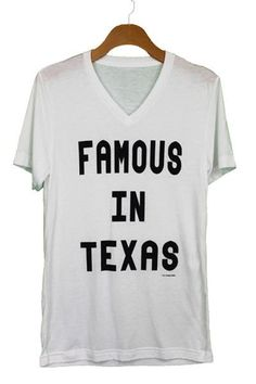 When I grow up I want to be famous.  You won't want to take off this best-selling unisex tee, featuring a uniquely soft triblend fabrication, modern fit, v-neck and short sleeves. Features: Sideseamed. Retail fit. Unisex sizing.Fabrication: 50% poly 25% combed and ring-spun cotton 25% rayon, 40 single 3.8 oz