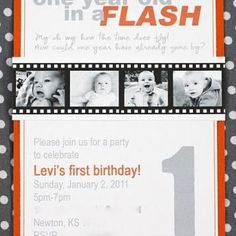One Year old in a Flash!! I love this theme! Might have to do this for Brysons Birthday!