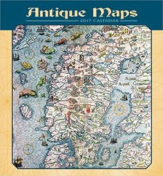 2017 Antique Maps Wall Calendar by The British Library