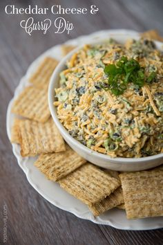 Cheddar Cheese & Curry Dip. Everyone loves this appetizer! #glutenfree