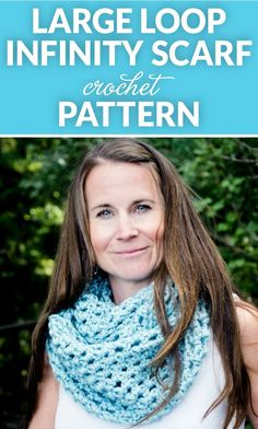 This large loop infinity scarf crochet pattern is going to be your go-to accessory for the cold weather months.It's warm, trendy, and versatile.