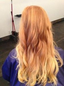 strawberry blond ombre. This is it! I think I know my perfect new hair color!! Took forever, but I love this!