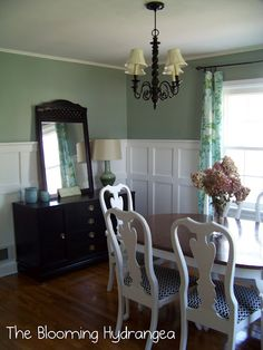 A little paint can spruce up an outdated dining room in no time!