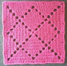 Ravelry: cuddlycritter's Bobby's Square granny More Ravelry: Project Gallery for Bobby's Square pattern by Mary Carroll u model batik iple nasıl olur dersiniz? Maybe I Can Finally Make The Granny Square Blanket With All My Leftover Yarn! How to Crochet Crochet Motifs, Granny Square Crochet Pattern, Crochet Blocks, Crochet Squares, Crochet Blanket Patterns, Filet Crochet, Knitting Patterns, Crochet Stitches, Ravelry Crochet