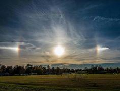 Sun dogs Aurora, Sun Dogs, Fire Rainbow, Go Outside, Great Photos, Rainbows, The Outsiders, Clouds, Sunset