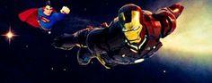 The Dimension war ....Man of Steel Vs The Iron Man by Dazman1978