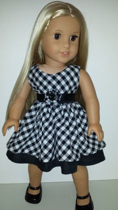 AG Doll Dress 'Check It Out' by ChrisLucasDesigns on Etsy, $29.00