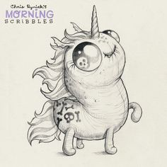 Goth Unicorn Magic!  #morningscribbles | by CHRIS RYNIAK