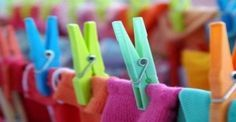 Art Print of Close-up of colorful laundry pins and hanged clothes drying. Search 33 Million Art Prints, Posters, and Canvas Wall Art Pieces at Barewalls. Housekeeping Tips, Pin Art, Room Posters, Cleaning Hacks, Helpful Hints, Diy And Crafts, Recycling, Art Prints, Outdoor Decor