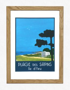 Top Travel Destinations, Packing Tips, Illustration, Poster, France, Deco, Amazing, Poster Vintage, The Beach