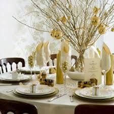 décoration table de fêtes doré