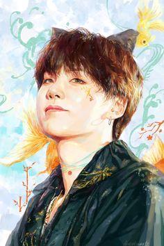 Bts Suga, Bts Taehyung, Kpop Drawings, Amazing Drawings, Kpop Fanart, Bts Chibi, Bts Wallpaper, Pop Art, Sketches