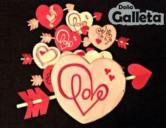 Galletas decoradas. Feliz San Valentin <3 Sugar, Cookies, Desserts, Amor, Decorated Cookies, Crack Crackers, Tailgate Desserts, Deserts, Biscuits