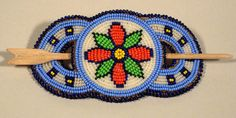 Beaded Hair Barrette 1 - Unknown Artist Hair Beads, Hair Barrettes, Beadwork, Artist, Crafts, Collection, Hair Trim, Manualidades, Pearl Embroidery