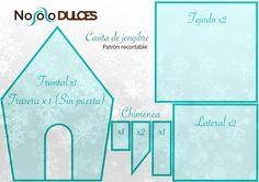 Receta de casitas de galletas de jengibre perfecta para decorar con niños en Navidad. Patrón recortable para casitas