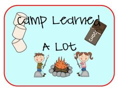Great camping themed ideas....and freebie!