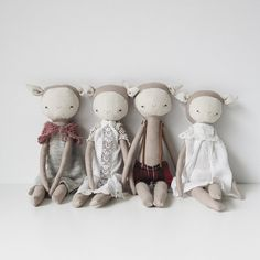 the foundlings are a collection of one of a kind waifs and urchins searching for a person they can call their own. each one is handmade with a linen